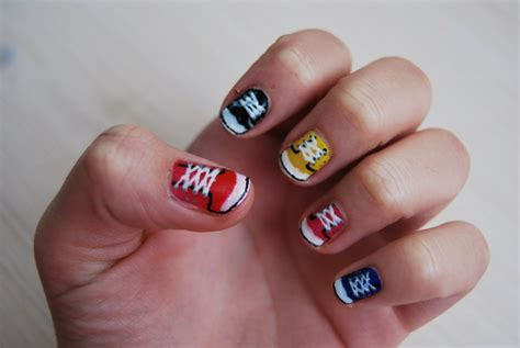 easy nail art converse converse nails in hq by martinrivass on deviantart