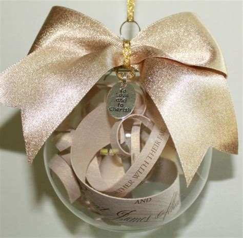 how to make a diy wedding invitation ornament christmas ornament