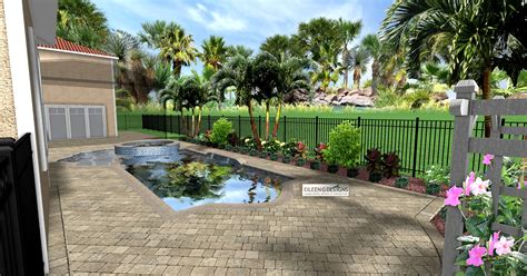 Landscape Rock Deck 187 Tropical Landscaping And Paver Deck For Small Pool Area