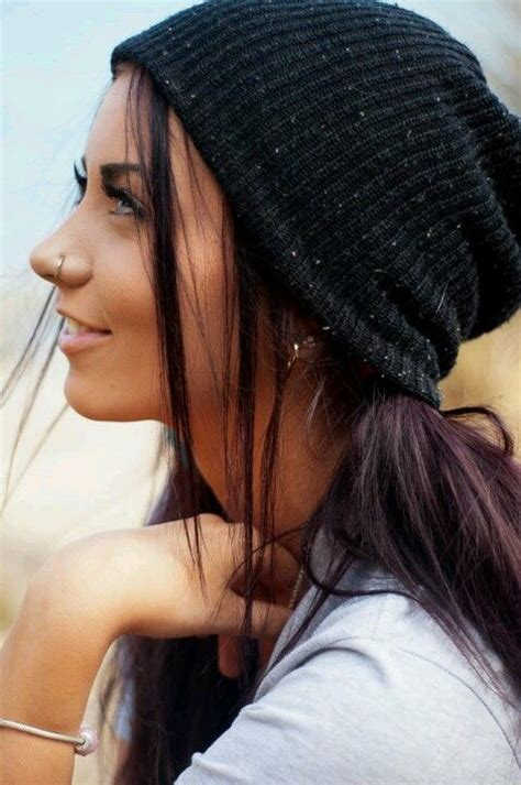 nose hair color tumblr girl this girl is super pretty the black hair