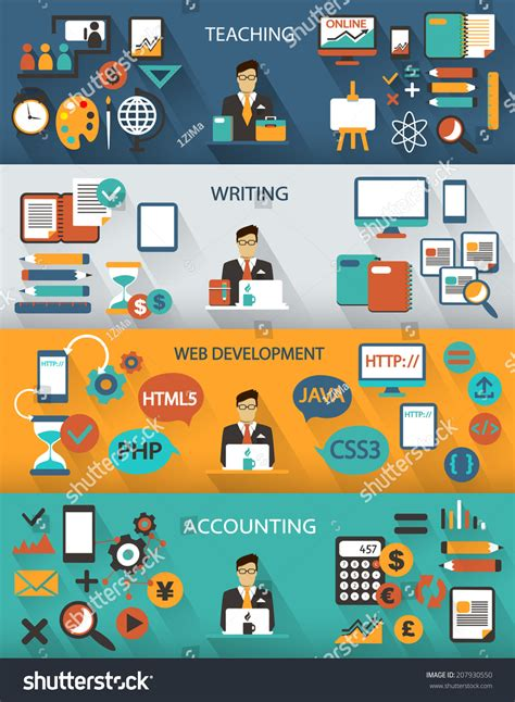piping layout freelance jobs flat design freelance jobs infographic with long shadows