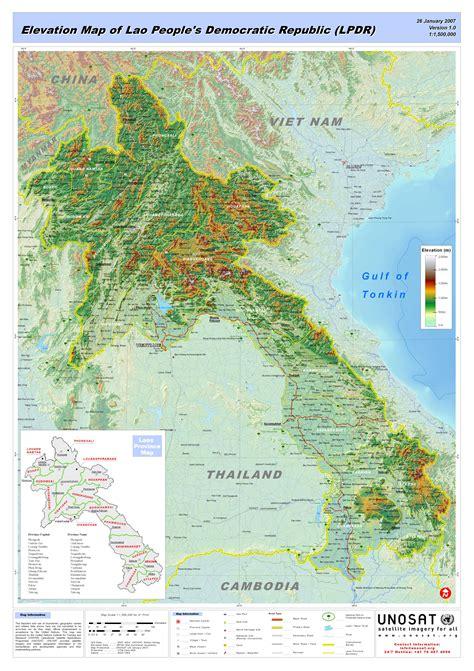 us elevation map pdf elevation map of lao 180 s democratic republic lpdr