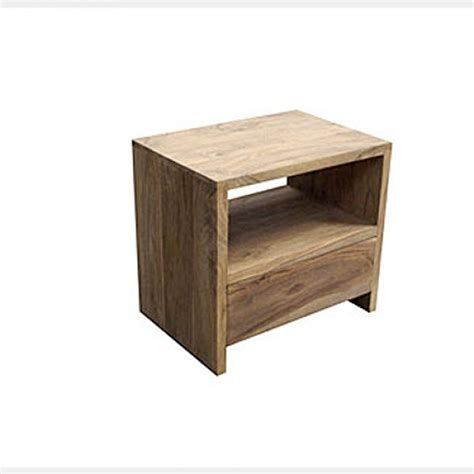 Low Bed bedside table natural rosewood timber furniture loft