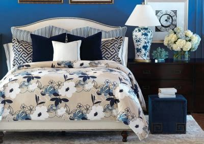 navy and cream bedding navy blue linen floral bedding sets barclay butera bedding del mar