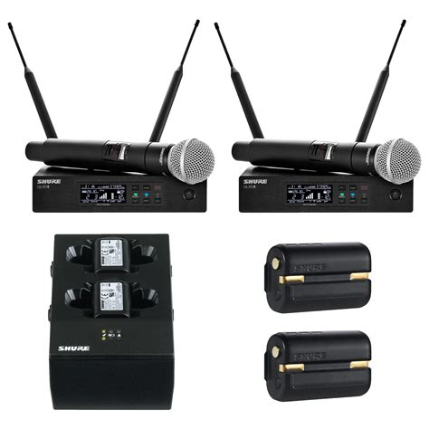 Mic Wireless Shure Ulxd4 Professional Pro Freguency Murah shure qlxd 2 channel handheld wireless mic system package pro audio superstore