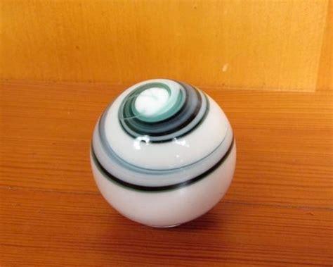 vintage marble agate slag swirl glass gear shift knob