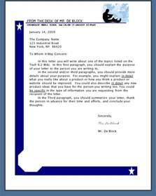 sample letter signature sample business letter