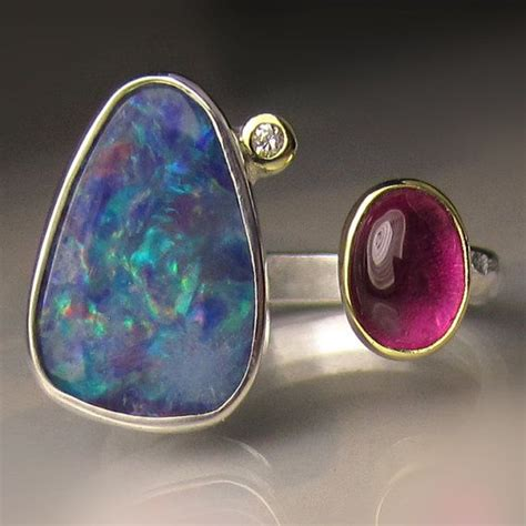 tourmaline opal 62 best tourmaline rings images on 18k gold