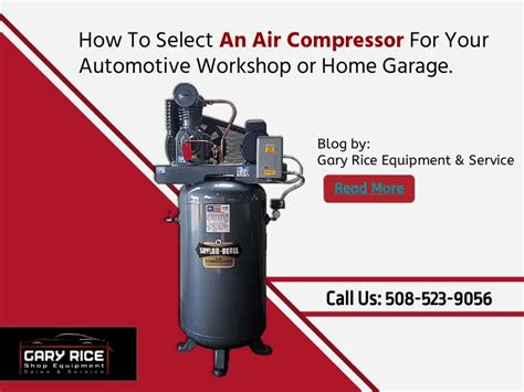 how to choose an air compressor for your automotive workshop or home