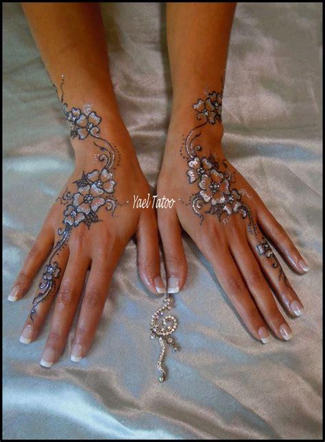 glitter henna tattoo tatouage bicolore paillet 233 par yael tatoo quot le henn 233