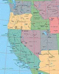 western usa map western usa map my