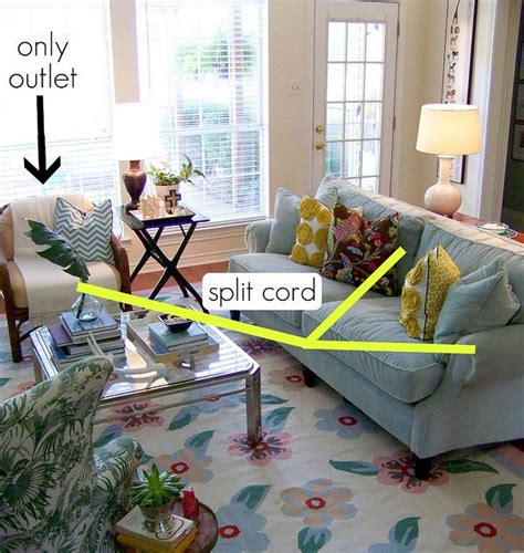 How To Hide Electrical Cords In Living Room by Hiding Electrical Cords House Ideas