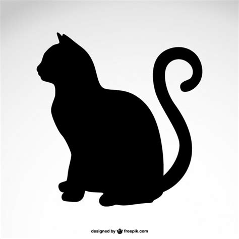 free silhouette images cat silhouette vector free download