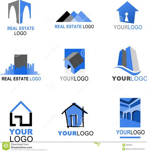 houses and more real estate collection of real estate logos royalty free stock images image 5866389