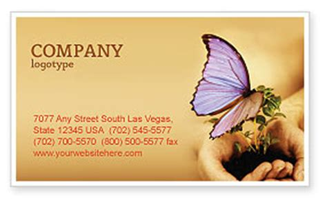 Butterflies And Pansies Business Card Template by Butterfly In Your Business Card Template Layout