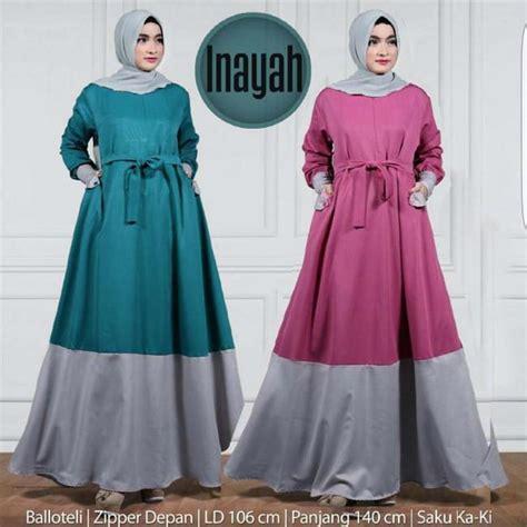 Dress Busana Muslim Wanita busana muslim terbaru new inayah dress grosir baju