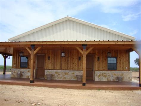 Metal Building Home w/ Wooden Cover up Porch (9 pictures