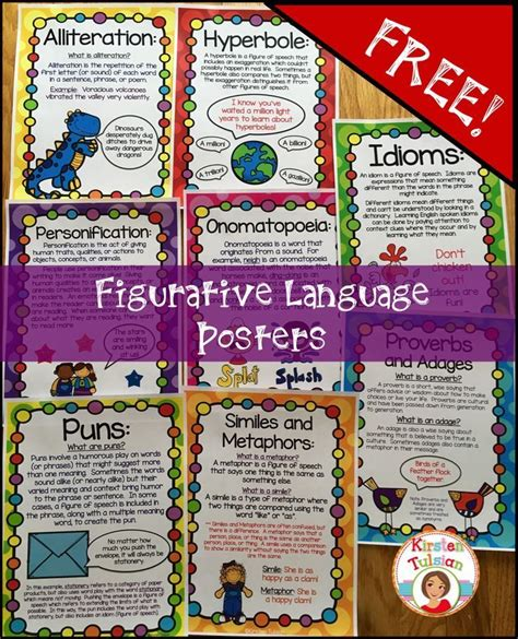 17 best images about figurative language on