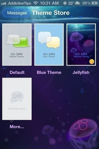 sms themes for iphone 6 go sms for iphone updated with ios 5 support new features