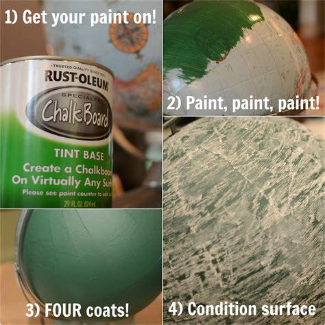 diy chalk paint problems diy chalkboard globe on the spot