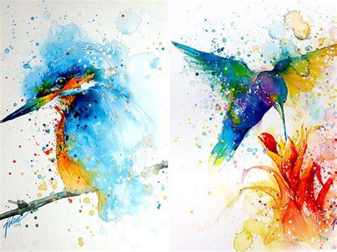Cara Membuat Warna Coklat Dengan Cat Air | wow lukisan indah ini diciptakan dari percikan cat warna