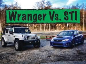 wrangler vs wrx jeep vs subaru