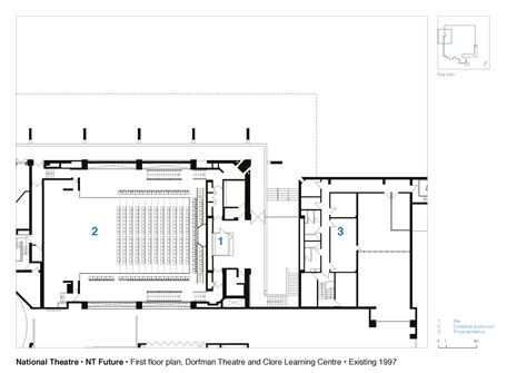 national theatre ground floor plan dorfman theatre galeria de teatro nacional haworth tompkins 31