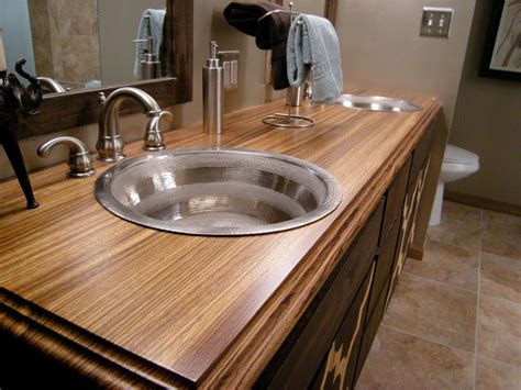 bar top materials bathroom countertop material options hgtv