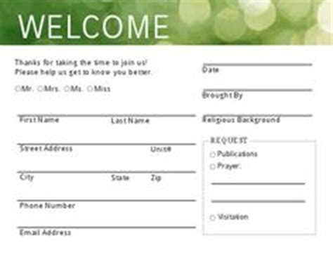 Visitor S Cards Church Microsoft Templates by 1000 Images About Visitor On Church Welcome