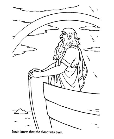 coloring page noah rainbow bible story characters coloring page sheets noah saw the