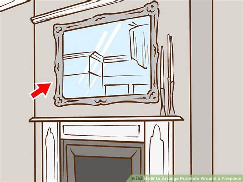 how to arrange furniture around a fireplace with pictures