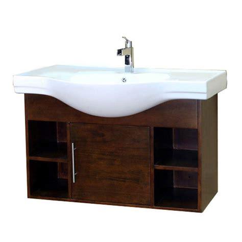 bellaterra home 41 in w single vanity in walnut
