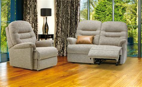 sherborne upholstery queensbury keswick petite fabric reclining 2 seater settee