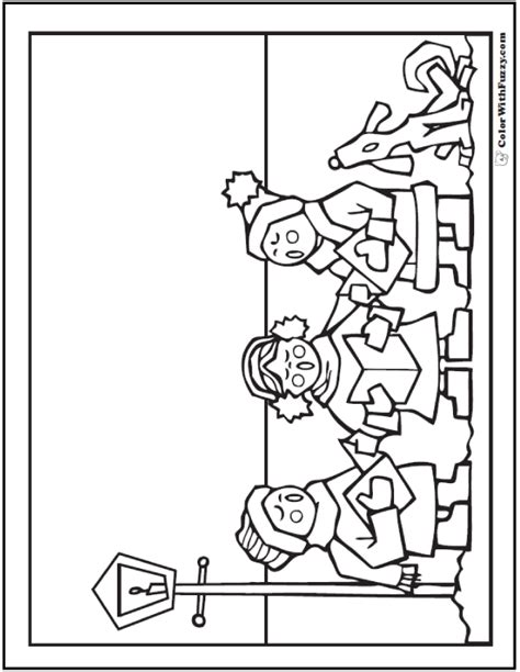 coloring page christmas carolers christmas coloring pictures