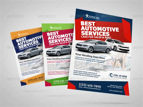 automotive car sale rental flyer ad template vol 4 by jbn