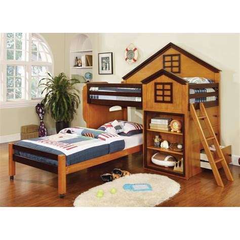 house bunk bed parker house design twin loft bed with storage bunk beds loft beds at hayneedle