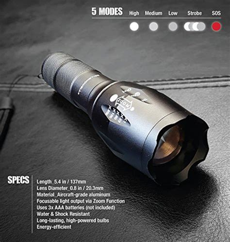 new bell and howell high performance tactical flashlight