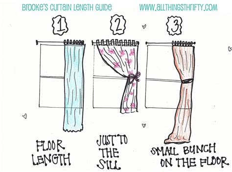 Drapery Lengths what length should your curtains be