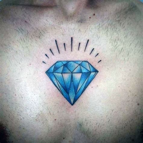 diamond tattoo with name blue diamond tattoo on chest