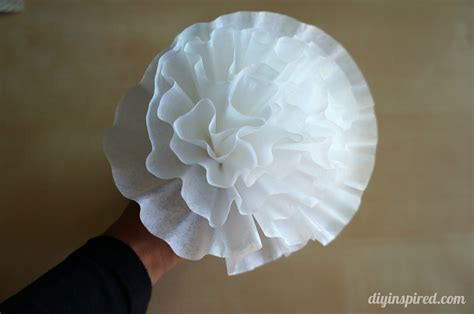 How To Make Paper Flowers From Coffee Filters - easy coffee filter paper flowers diy inspired