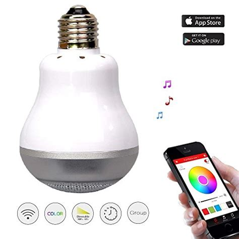 Smart Multicolor Bulb Bluetooth Speaker e led smart bulb with bluetooth speaker dimmable multicolor 11street malaysia speakers