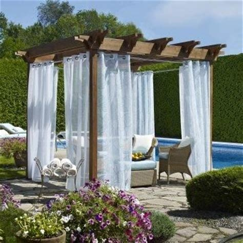 pergola curtain ideas outdoor decor biscayne sheer grommet panel www