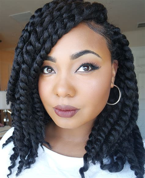 styling with big braids crochetbraids short cute styles 2 try pinterest