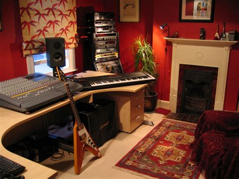 small music studio home recording studio design idea comformtable cool vibe