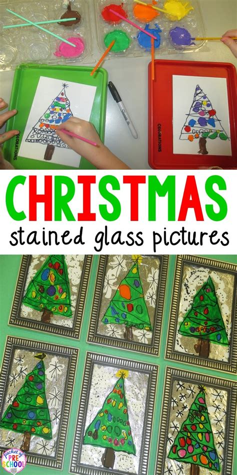 preschool christmas gifts to make a parent gift stained glass window pictures pocket of preschool