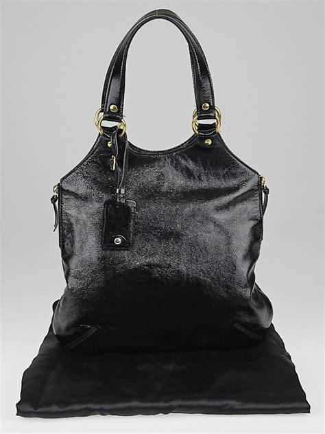Yves Laurent Tribute Patent Bag yves laurent black patent leather small tribute bag