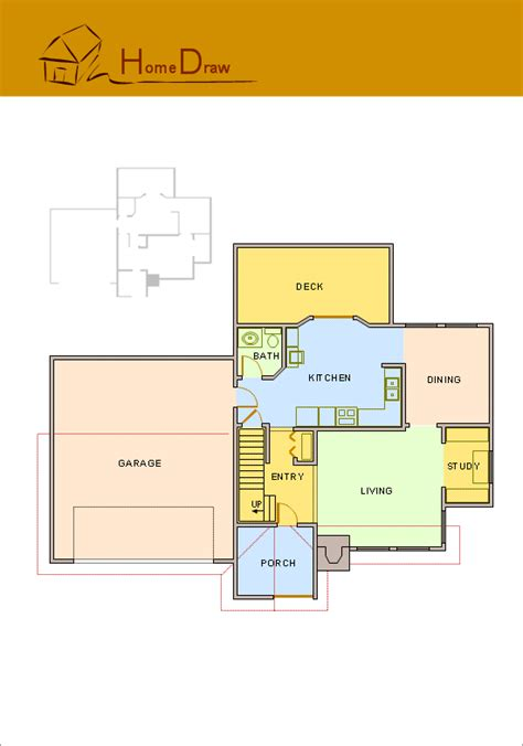 house plan drawings conceptdraw sles floor plan and landscape design