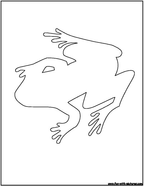 frog coloring page outline free coloring pages of frog outline