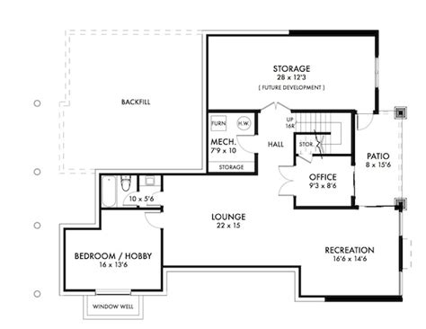floor plans for bungalows with basement cute walk out bungalow house plan hunters