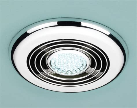Bathroom Light And Extractor Fan Hib Cyclone Room Inline Illuminated Chrome Extractor Fan 32700
